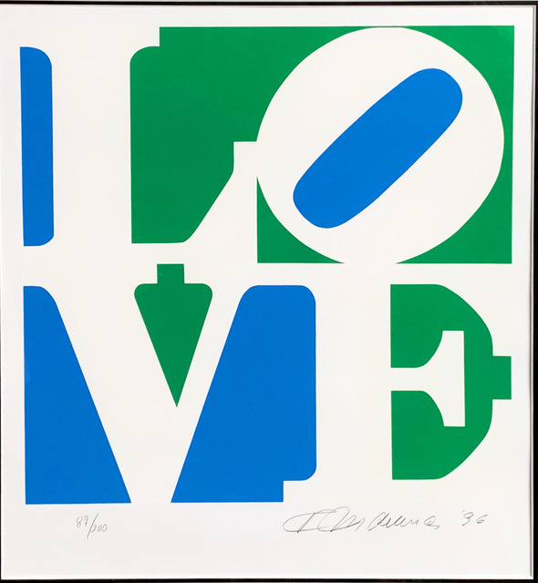 Robert Indiana, 'LOVE - Blue, Green & White', 1997, Fairhead Fine Art Limited