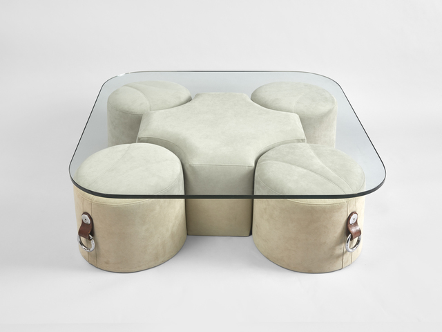 Guido Faleschini, 'a coffee table with 4 poufs ', ca. 1970, Galerie Hervouet