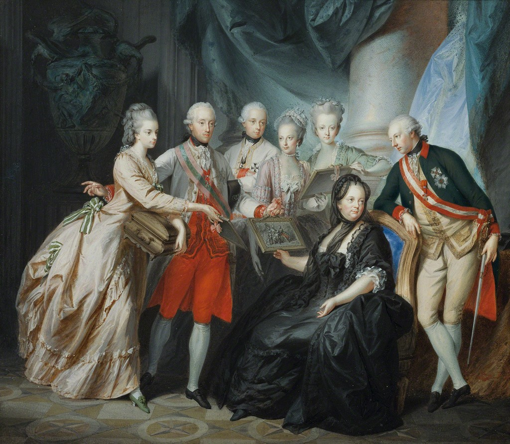 Friedrich Heinrich Füger, Empress Maria Theresa with Her Children, 1776, © Belvedere, Vienna