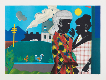 Romare Bearden, 'The Conversation,' 1979, Phillips: Evening and Day Editions (October 2016)