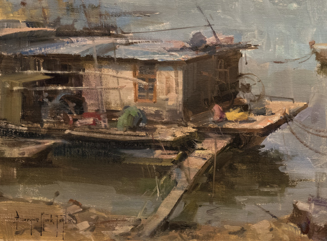 , 'Datang Houseboat,' 2016, Anthony's Fine Art