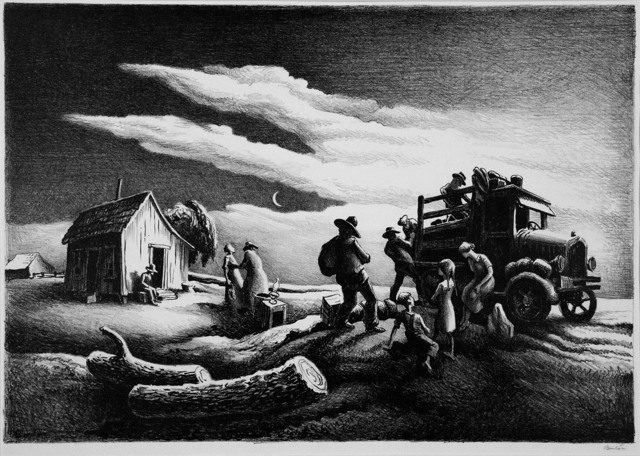 , 'Departure of the Joads.  [The Grapes of Wrath Series.],' 1939, The Old Print Shop, Inc.