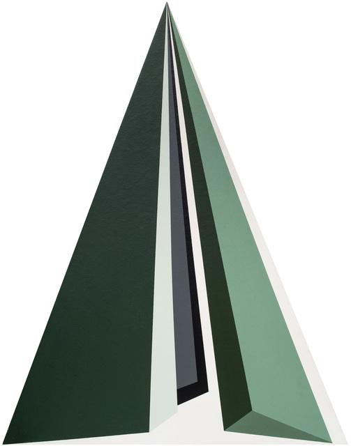 , 'Triangulo preto cinza verde,' 1987, GALERÍA JOSÉ DE LA MANO