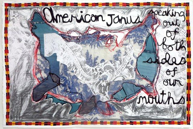 , 'American Janus,' 2017, ODETTA