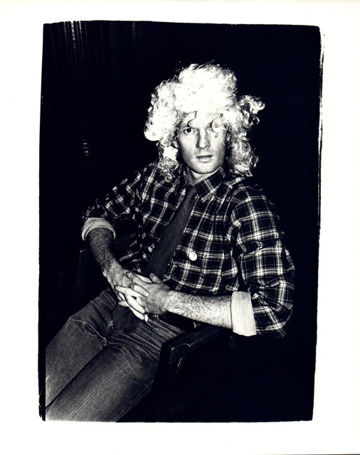 Andy Warhol, 'Andy Warhol, Photograph of an Unidentified Man Wearing a Wig circa 1980', ca. 1980, Hedges Projects