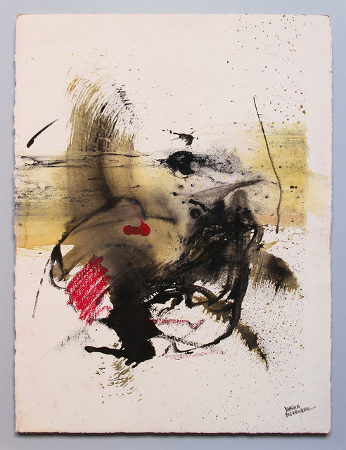Yassine Mekhnache, 'UNTITLED', 2017, Painting, Mixed media on Arches paper, David Bloch Gallery