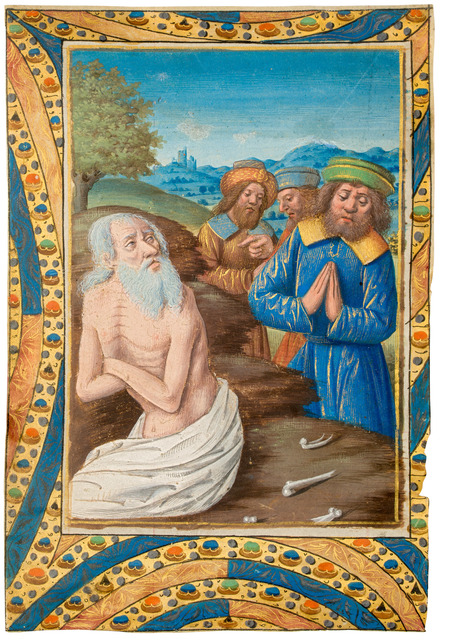 , 'Job on a dunghill talking to his friends,' 1490-1500, Dr. Jörn Günther Rare Books