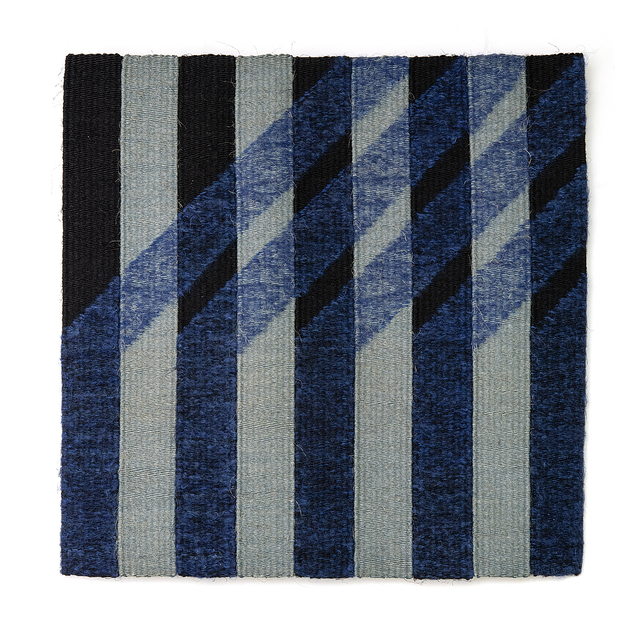 Adela Akers, 'Angled Blue', 1989, Textile Arts, Sisal, linen and wool, browngrotta arts