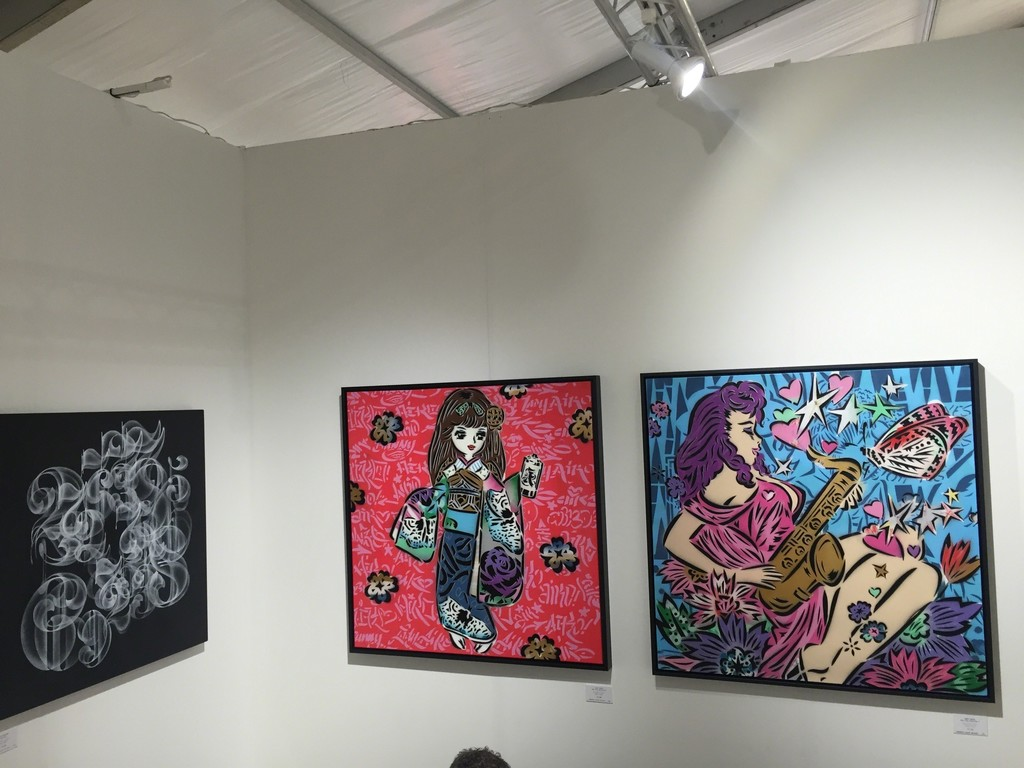 Nick Walker & Lady Aiko at SCOPE Miami Beach