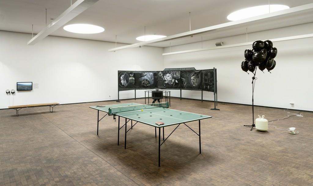 88. Herbstausstellung des Kunstvereins Hannover  Installationsansicht in der städtischen Galerie KUBUS, 2018 Foto: Raimund Zakowski
