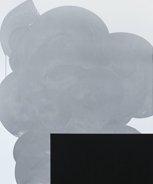 , 'Silver With Black #1,' 2017, Andrea Schwartz Gallery