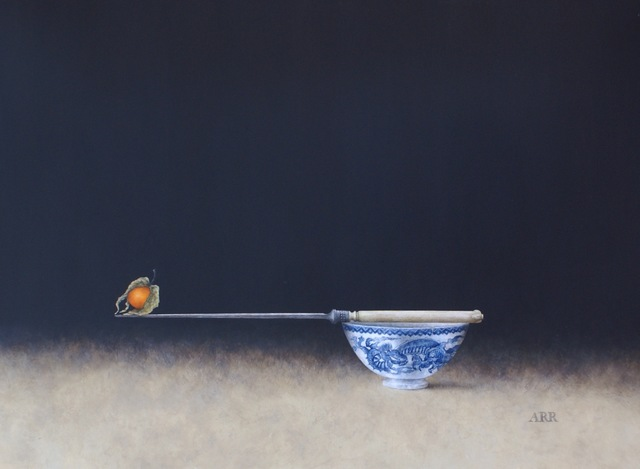 Alison Rankin, 'Blue Dragon Bowl with Knife and Balancing Physalis', 2018, Quantum Contemporary Art