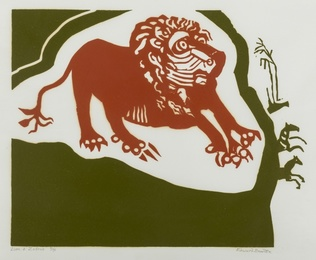 Edward Bawden, 'Lion & Zebras,' 1989, Forum Auctions: Editions and Works on Paper (March 2017)
