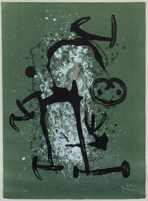 Joan Miró, 'L'Illetre Vert', 1969, Hindman