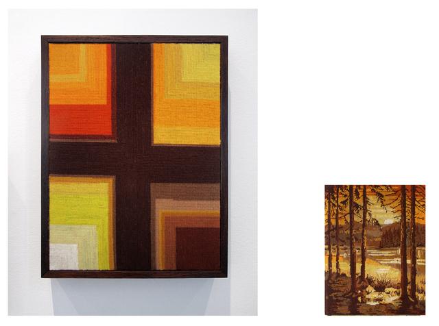 , 'Pueblo con tejados naranjas y torre de iglesiade, lago en primer plano y montañas al fondo,' 2014, Wu Galeria