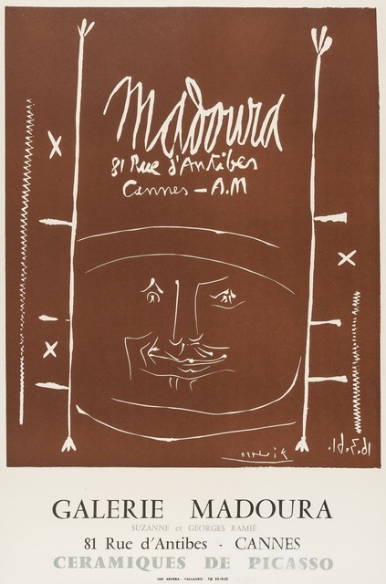 Pablo Picasso, 'Madoura 1961 (CZW187); Vallauris 4e biennale 1974', 1961 and 1974, Forum Auctions