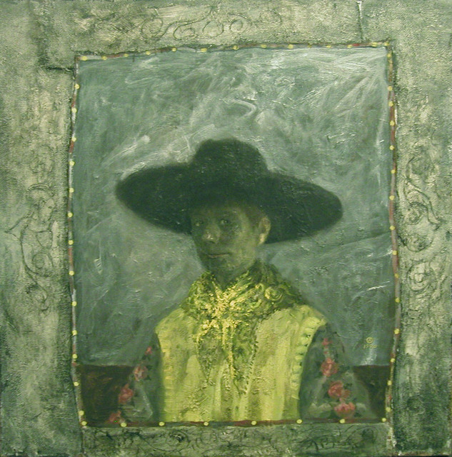 Olga Antonova, 'Self Portrait with Black Hat', Gallery Henoch