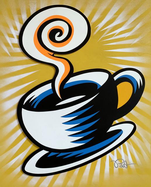 Burton Morris, 'Friends - Coffee Cup (Yellow 2)', 2019, Taglialatella Galleries