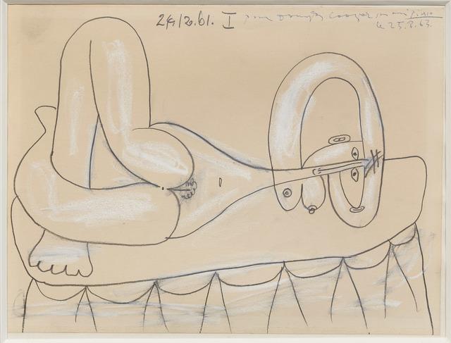 , 'Femme nue allongée,' 1961, DICKINSON