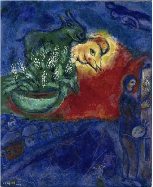 Marc Chagall, 'L'Âne Vert ', 1978, Painting, Oil on canvas, Opera Gallery