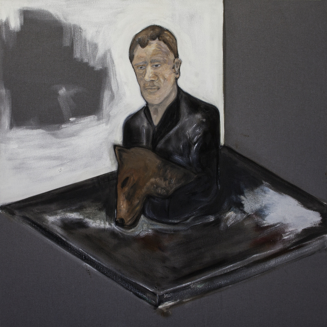 , 'Man with dog (gray),' 2016, Galerie Bart