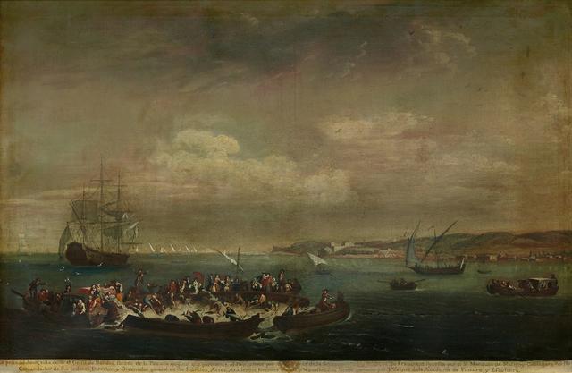 JUAN PATRICIO MORLETE RUIZ, 'La pesca de atún vista desde el Golfo de Bandol', Siglo XVIII, Mario Uvence