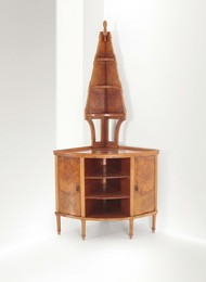 a corner piece with shelves
