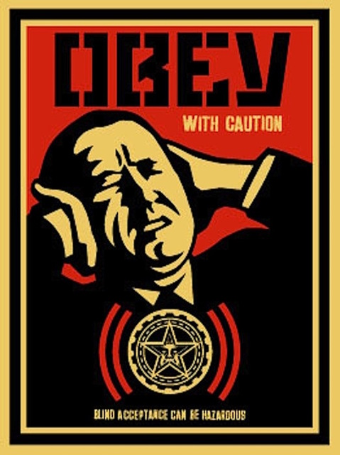 Shepard Fairey (OBEY), 'Obey with Caution', 2002, Gregg Shienbaum Fine Art