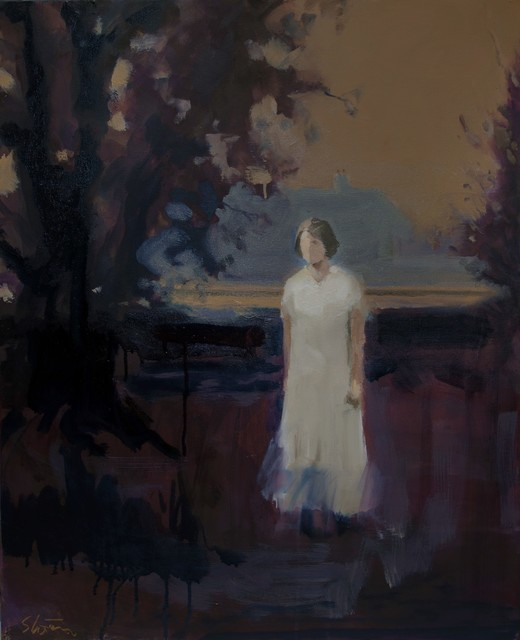 David Storey, 'Autumn Figure 1', Painting, Oil and mixed media on canvas, Castlegate House Gallery