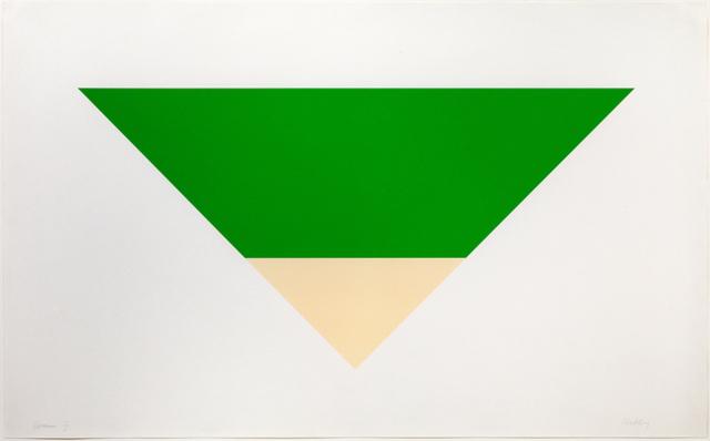 Ellsworth Kelly, 'Green/White', 1970-1972, Gregg Shienbaum Fine Art