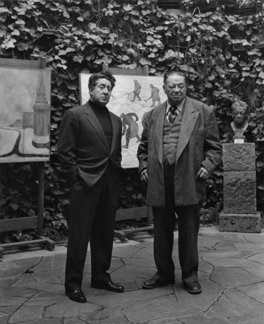 Rodrigo Moya, 'Diego Rivera y D.A. Siquerios, Galeria Emma Hurtado', 1961, Etherton Gallery