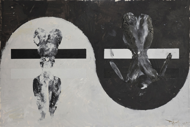 , 'Black and White Canvas No.7,' 2015, 10 Chancery Lane Gallery