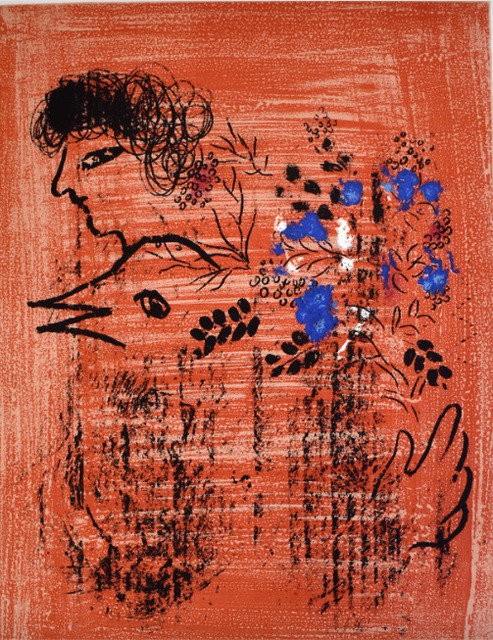 Marc Chagall, 'Bouquet with Bird', 1960, Print, Lithograph in colors, on Arches wove paper, Upsilon Gallery