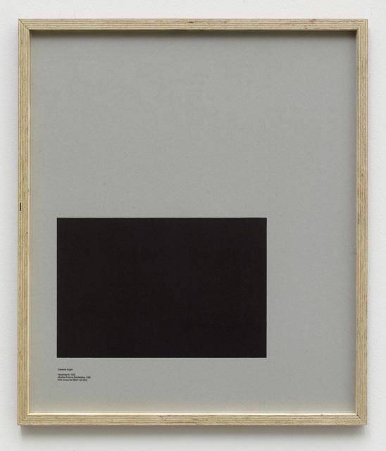 , 'Loop Holes (Clarence Anglin, December 6. 1962, Alcatraz Federal Penitentiary, USA, hole measures 38 x 25.4 cm) ,' 2014, Galleri Nicolai Wallner