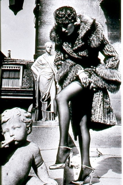 , 'Woman in Fur Adjusting Her Stockings,' 1975, ArtLife Gallery