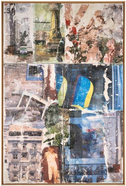 Robert Rauschenberg, 'Catastrophe (Arcadian Retreat)', 1996, Painting, Inkjet transfer and wax on fresco panels, San Francisco Museum of Modern Art (SFMOMA)