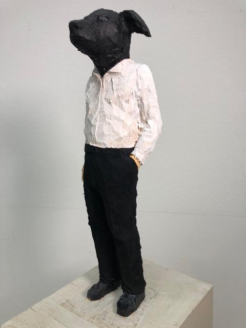 Stephan Balkenhol, 'Hundemann', 2019, Galerie Klüser