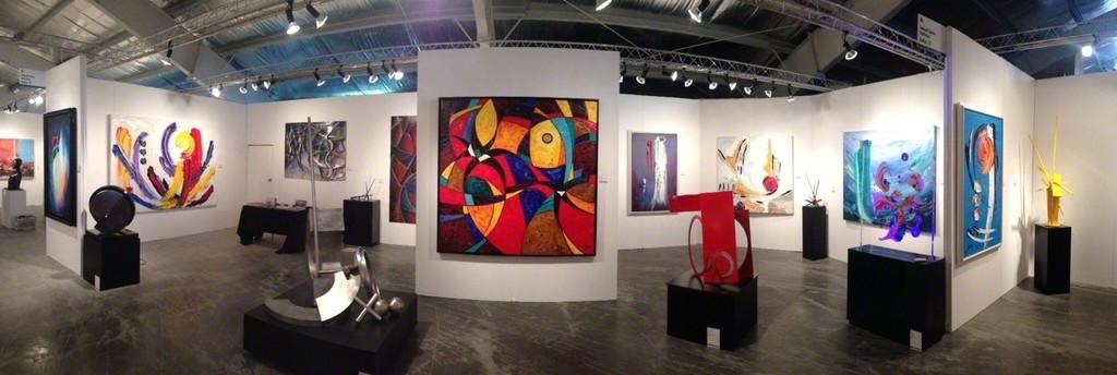 Samuel Lynne Galleries' booth at Art Aspen 2014