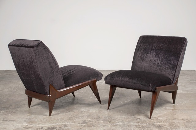 , 'Pair of lounge chairs,' 1950, Sebastian + Barquet
