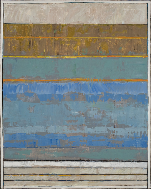 , 'Green-Blue with Orange Line,' 2010, Studio 21 Fine Art