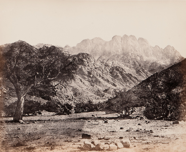 Francis Frith, 'Mount Serbal, From the Wádee Feyrán', 1858/1860, Contemporary Works/Vintage Works