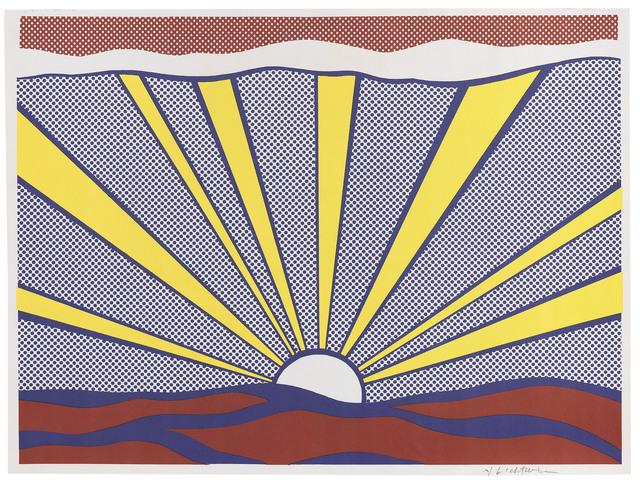 Roy Lichtenstein, 'Sunrise Corlett II.7', 1965, Print, Wove paper, Frank Fluegel Gallery