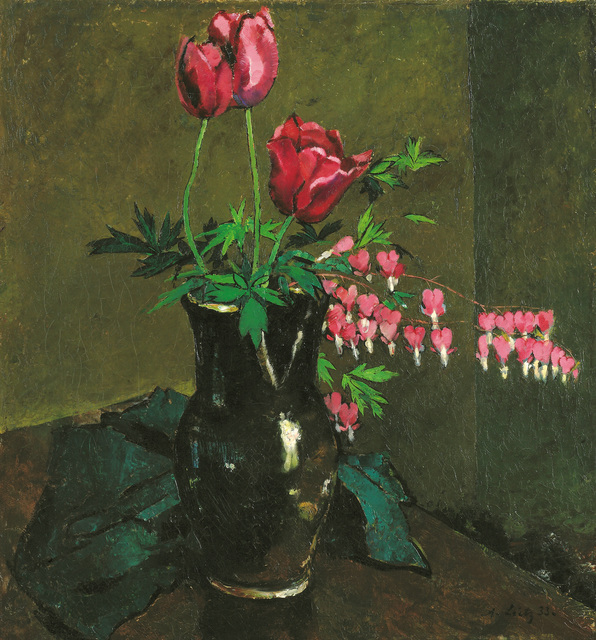 , 'Tulips and Bleeding Heart,' 1933, Galerie Bei Der Albertina Zetter