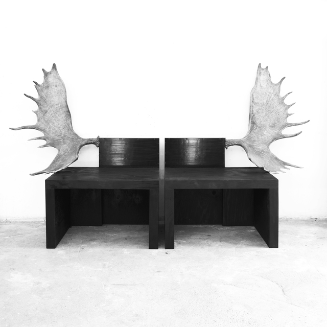 , 'Pair of Stag Benches,' 2016, Jason Jacques Gallery