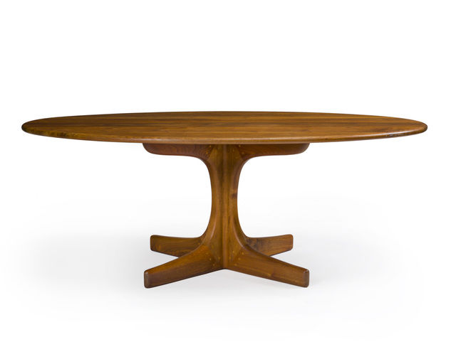 Sam Maloof, 'Oval cocktail table, No. 38', 1975, John Moran Auctioneers