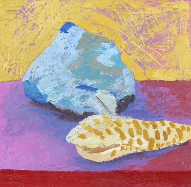 , 'Blue Rock with Shells,' 2017, parts gallery