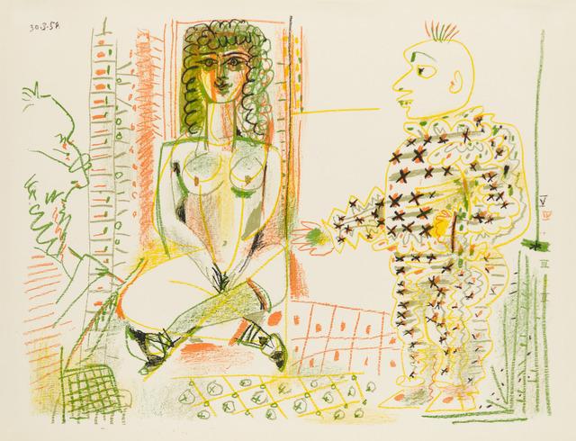 Pablo Picasso, 'LE PEINTRE ET SON MODÈLE (The Painter and his Model)', 1954, Christopher-Clark Fine Art