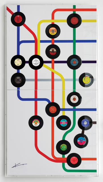 , 'New York Subway map,' 2017, Woolff Gallery