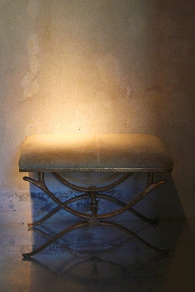 "A tale waiting to be told by Simone Ricart's ""Sing Sing"" pouf. A wonderful piece relaized in the pure copper"