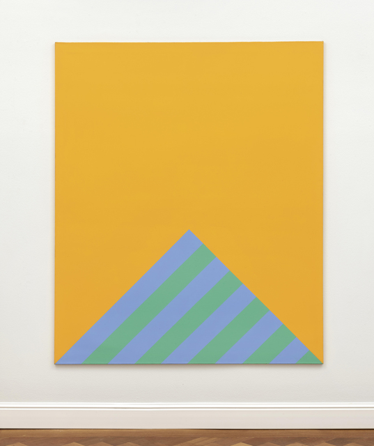 Winfred Gaul, 'Striped edge III', 1967/70, Painting, Polyvinyl acetate on canvas, Ludorff